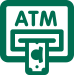 Illustration of ATM dispensing cash